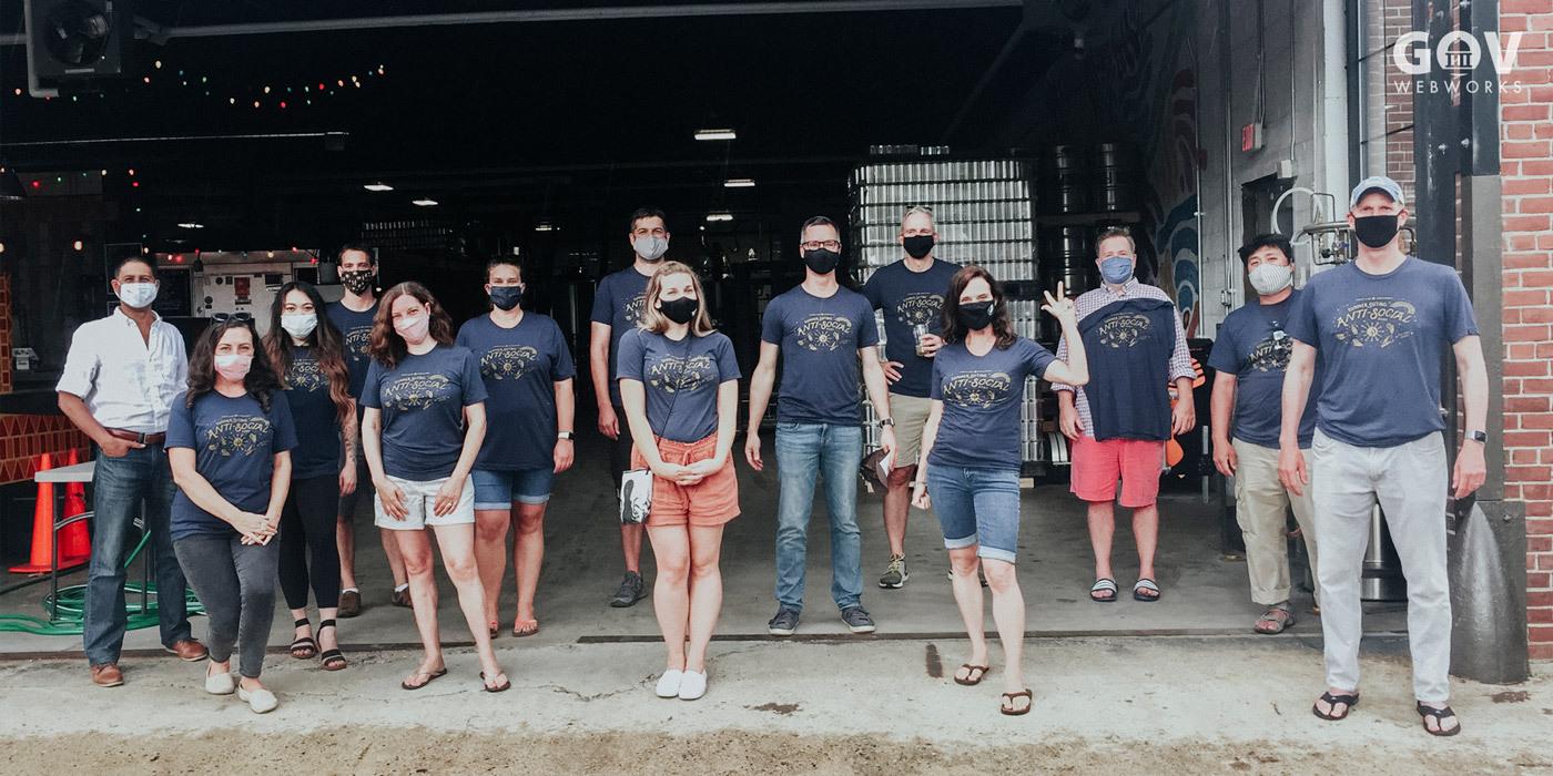 Portland Webworks staff wearing masks