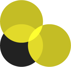 Three circles intersecting