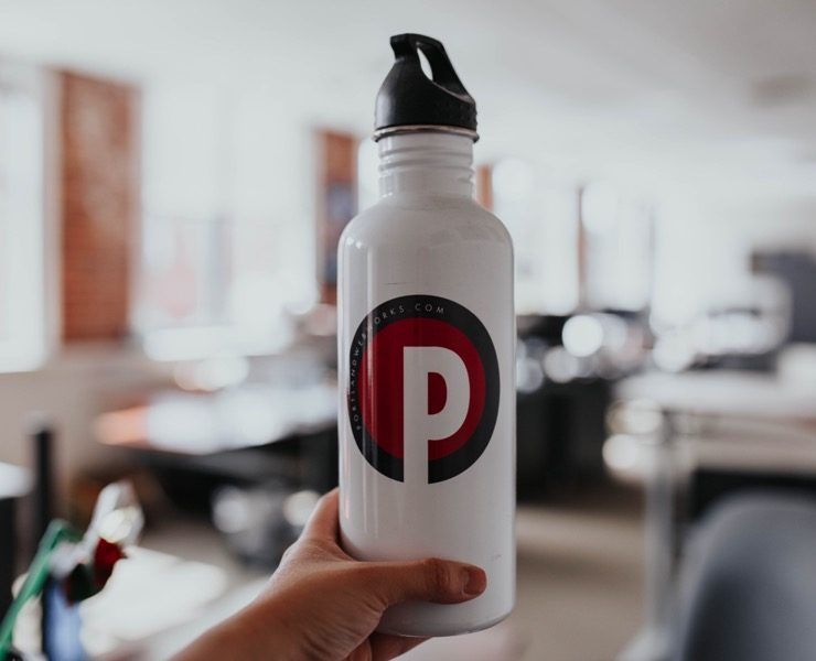 Portland Webworks water bottle